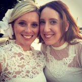Besties en blanc ... Marysia and I.